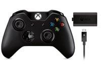 Xbox One New Controller (με 3.5mm jack) & Play&Charge Kit - Χειριστήριο Μαύρο
