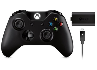 Xbox One New Controller (με 3.5mm jack) & Play&Charge Kit - Χειριστήριο Μαύρο