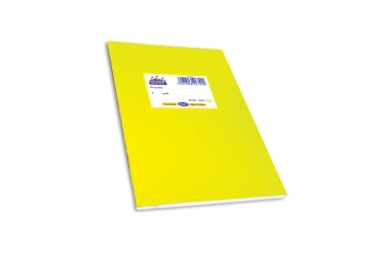 Τετράδιο Ριγέ Α5 Skag Κίτρινο 50 Φύλλα