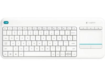 Ασύρματο Πληκτρολόγιο Logitech Touch Wireless Keyboard K400 Plus Λευκό