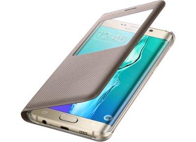Θήκη Samsung Galaxy S6 Edge Plus - Samsung S View Flip Cover Χρυσό (EF-CG928PFEGWW)