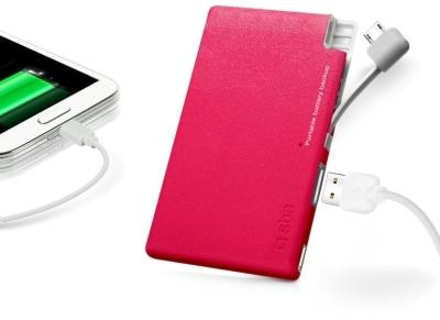 Powerbank USB SBS Portable Battery Backup ExtraSlim 2200 mAh Ροζ Glitter (TEBB2200XSGP)