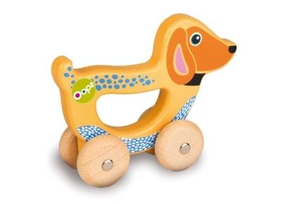Ξύλινο Όχημα με Λαβή Oops Easy-Go Σκυλάκι (1004-17008.22)