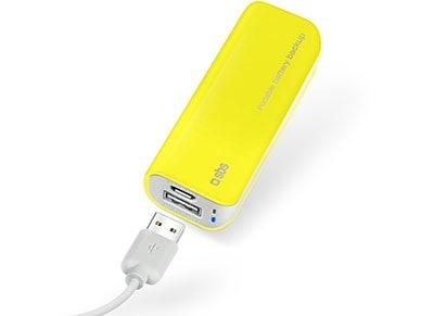 Powerbank USB - SBS Portable Battery Backup 2200 mAh 1A - Κίτρινο