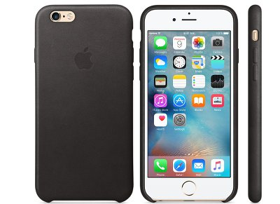 Θήκη iPhone 6/6S - Apple Leather Case Black (MKXW2ZM/A) apple   αξεσουάρ iphone   θήκες