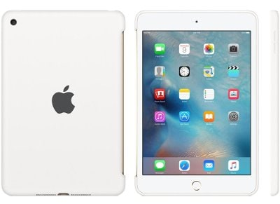 Apple Silicone Case - Θήκη iPad mini 4 White (MKLL2ZM/A) tablets   αξεσουάρ   θήκες
