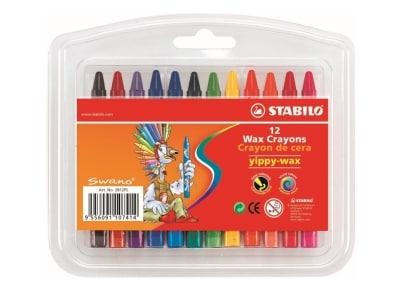 Τριγωνικές Κηρομπογιές Stabilo Swano Yippy-Wax (12 χρώματα)