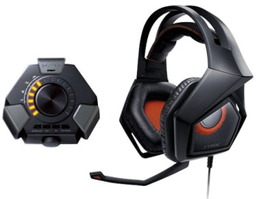 Asus Strix DSP & Audio Station - Gaming Headset Μαύρο gaming   αξεσουάρ pc gaming   gaming headsets