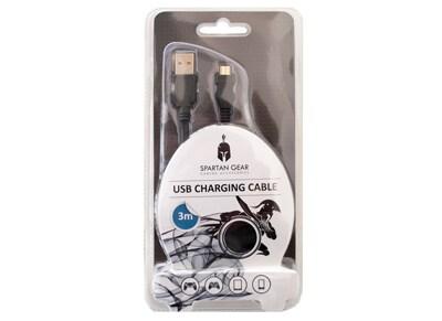 Spartan Gear USB Charging Cable - Καλώδιο Φόρτισης PS4/Xbox One 3m gaming   αξεσουάρ κονσολών   ps4   καλώδια   φορτιστές