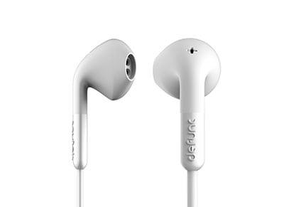 Handsfree Ακουστικά Defunc In-Ear Stereo Hybrid Λευκό (D0042)