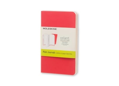 Σημειωματάριο Moleskine Volant Journal Plain Red - Pocket (2 Τεμάχια)