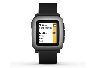 Smartwatch Pebble Time Μαύρο