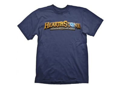 T-Shirt Gaya Hearthstone Logo Navy Μπλε - XL gaming   gaming cool stuff