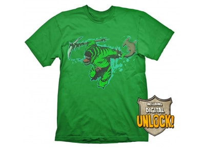 T-Shirt Gaya DOTA 2 Tide Hunter Πράσινο & Bonus DLC - S gaming   gaming cool stuff