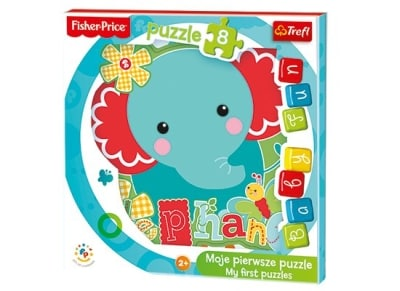 Puzzle Trefl: Baby Fun Elephant Fisher Price 8 Κομμάτια (817-36119)