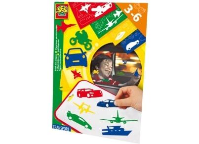 SES Δημιουργικό Σετ Σχήματα Οχημάτων Μεταφοράς & Πίνακας Επικόλλησης