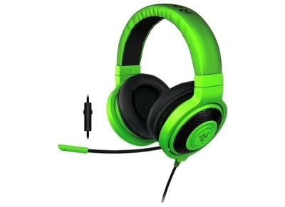 Gaming Headset Razer Kraken Pro In-Line Πράσινο gaming   αξεσουάρ pc gaming   gaming headsets