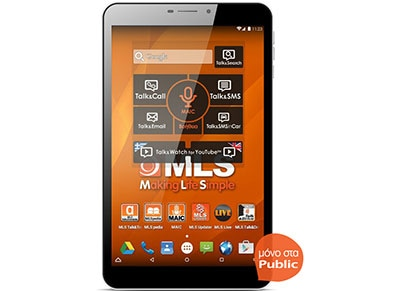 "MLS iQTab Bliss 3G - Tablet 8"" 3G 16GB Λευκό"