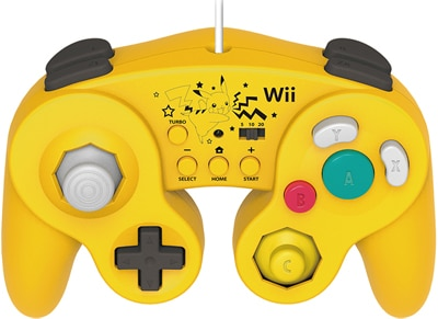 Hori Battle Pad Pikachu - Χειριστήριο Nintendo Wii U Κίτρινο gaming   αξεσουάρ κονσολών   wii u   χειριστήρια
