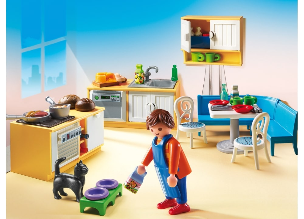 Playmobil 5336 public for Salle a manger playmobil city life