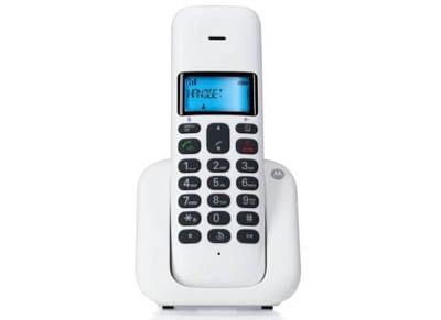 Motorola T301W Ασύρματο Τηλέφωνο Λευκό