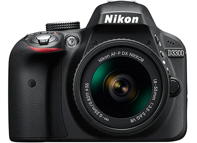 DSLR Nikon D3300 - AF-P 18-55mm VR Kit B - Μαύρο