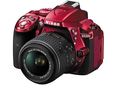 DSLR Nikon D5300 - Kit  AF-P 18-55mm VR - Κόκκινο