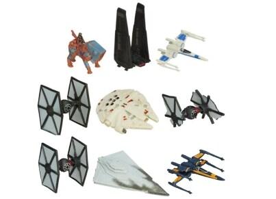 Star Wars Episode 7 MicroMachines Vehicle Σετ των 3 - 1 τεμάχιο (B3500)