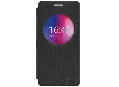 Θήκη MLS IQTalk Color 4G - MLS IQTalk Color 4G Smart Cover Μαύρο 11.CC.520.115 τηλεφωνία   αξεσουάρ κινητών   θήκες