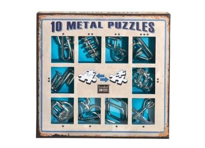 10 Metal Puzzles - Μπλε Σετ (10-B)