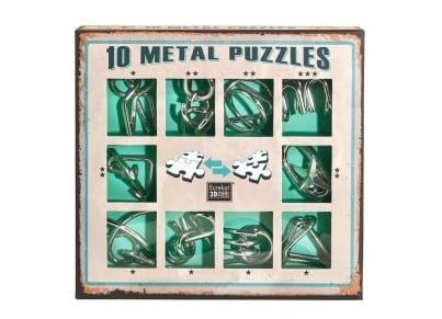10 Metal Puzzles - Πράσινο Σετ (10-G)