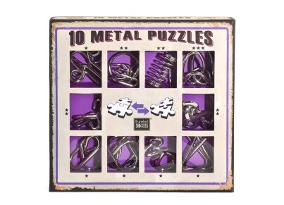 10 Metal Puzzles - Μοβ Σετ (10-P)