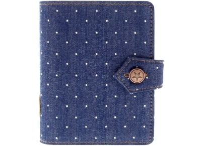 Organiser Pocket Filofax Denim Dots Intigo (027034)
