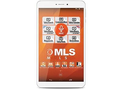 "MLS iQTab Focus 3G - Tablet 8"" 3G 16GB Λευκό/Ασημί tablets   tablets"