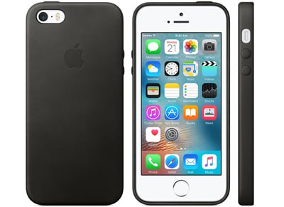 Θήκη iPhone SE - Apple Leather Case Black (MMHH2ZM/A) apple   αξεσουάρ iphone   θήκες