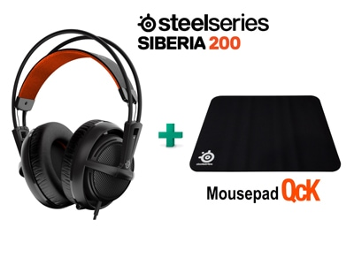 SteelSeries Siberia 200 Black & Δώρο Mousepad SteelSeries QcK- Gaming Headset Μα gaming   αξεσουάρ pc gaming   gaming headsets