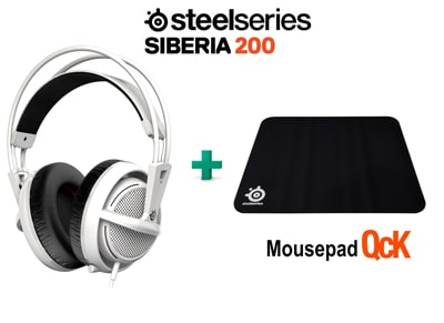 SteelSeries Siberia 200 White & Δώρο Mousepad SteelSeries QcK- Gaming Headset Λε gaming   αξεσουάρ pc gaming   gaming headsets