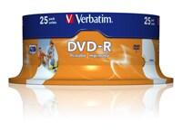 Verbatim DVD-R 4,7GB 16x - Spindle 25 τεμ - Μέσο αποθήκευσης