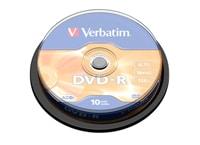 Verbatim DVD-R 4,7GB 16x - Cake 10 τεμ - Μέσο αποθήκευσης