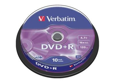 Verbatim DataLifePlus DVD+R 16x 4,7GB - Cake 10 τεμ - Μέσο αποθήκευσης