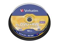 Verbatim DataLifePlus DVD+RW  4x 4,7GB - Cake 10 τεμ - Μέσο αποθήκευσης