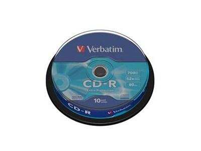 Verbatim CD-R 700MB 52x - Cake 10 τεμ - Μέσο αποθήκευσης