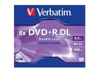 Verbatim DVD+R DL 8x 8,5GB - 1 τεμ - Μέσο αποθήκευσης