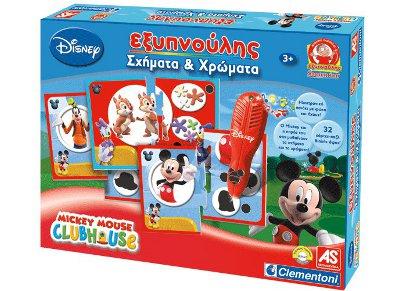 Εξυπνούλης Σχηματα Και Χρωματα Disney Mickey