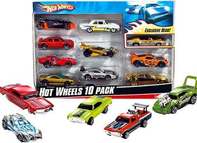 Hot Wheels Αυτοκινητάκια Σετ 10