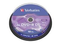 Verbatim DVD+R DL 8x 8,5GB - Cake 10 τεμ - Μέσο αποθήκευσης