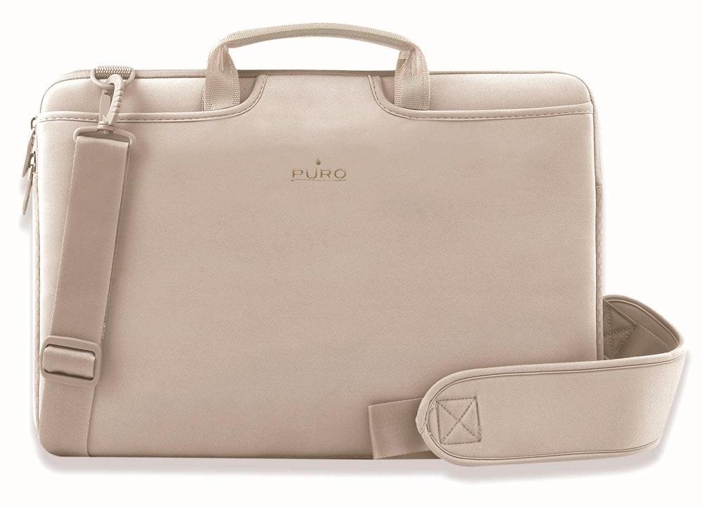 """Τσάντα Laptop 17"""" Puro SCUDO17ECRU Εκρού"""