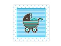 Ευχετήρια Κάρτα BABY BOY ΚΑΡΟΤΣΑΚΙ