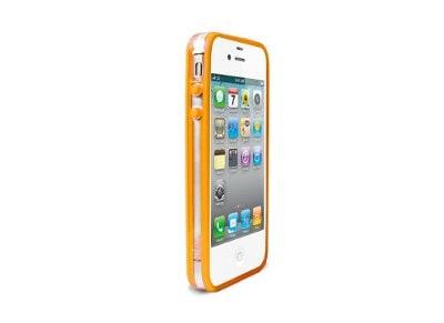 Θήκη iPhone 4/4s - Puro Bumper Fluo Frame IPC4BUMPERFLUO6 Πορτοκαλί apple   αξεσουάρ iphone   θήκες