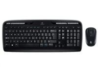 Logitech Wireless Desktop MK330 - Ασύρματο - Μαύρο